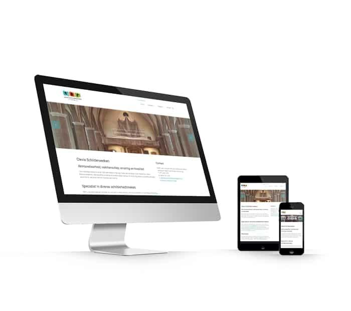 Clevis Schilderwerken Lottum website webdesign WordPress Elementor Pro