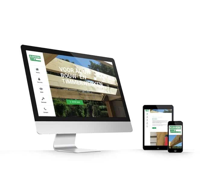Kleuskens Bouw en Timmerwerken Meterik website webdesign WordPress Elementor Pro